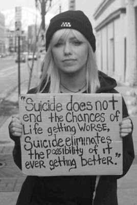 So sad to think that people myself included can even consider suicide an option for anything.