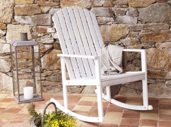 Rocking chair blanc delamaison