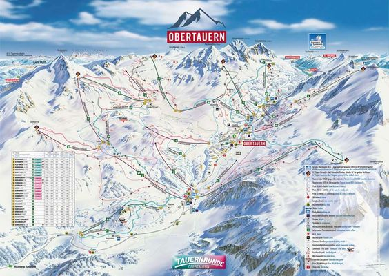 Ski map Obertauern