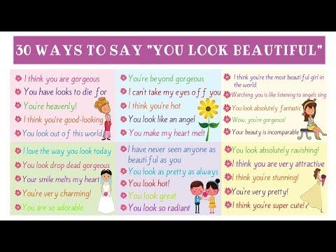 100 Words To Use Instead Of Beautiful Eslbuzz Learning English Learn English Learn English Vocabulary Other Ways To Say