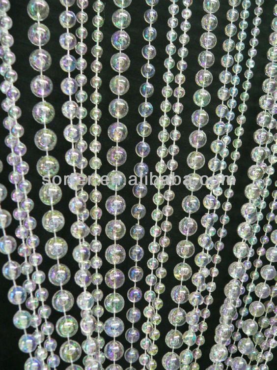 New Style Fashionable Hanging Plastic Beaded Curtain Door Beads ...