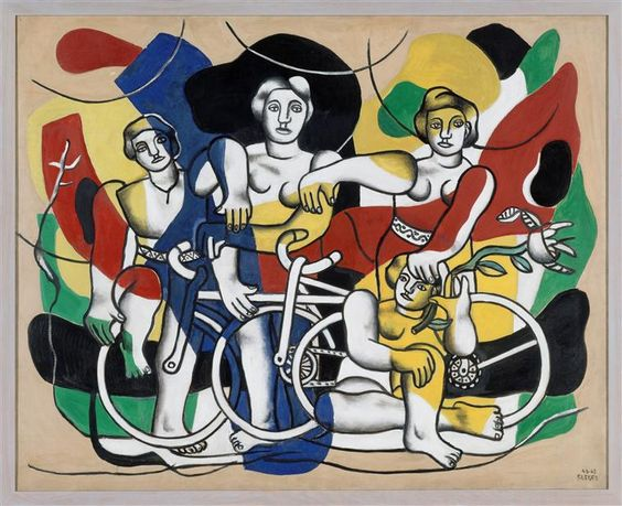Fernand Leger, The four cyclists,