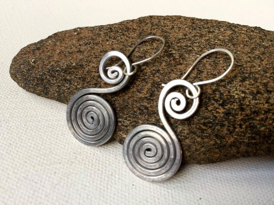 A personal favorite from my Etsy shop https://www.etsy.com/listing/461689970/aluminum-wire-earrings