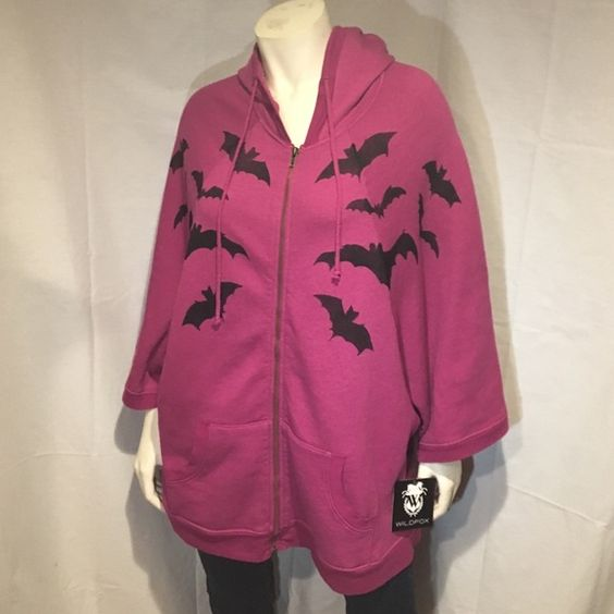 Nwt wildfox bat poncho/hoodie Nwt Wildfox Bat Poncho/ Hoodie .. Never used with original tags. Sold out on wildfox. Size medium can fit small - xl Wildfox Tops Sweatshirts & Hoodies