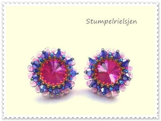 °°Frida°°Ohrstecker,Ohrring,pink,blau,grün,oran+von+°°FineArtBead°°+auf+DaWanda.com