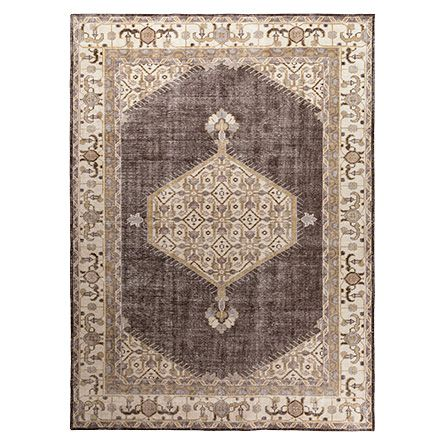 Jehan 8' X 11' Hand Knotted Medallion Rug In Taupe/Grey
