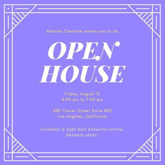 Free Open House Invitation Template Unique Customize 127 Open House Invitation Templat Open House Invitation Invitation Template Holiday Open House Invitations