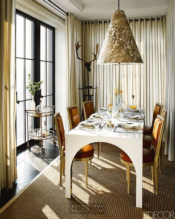 Pin On A List Known Interior Designers By Elle Decor Best dining rooms elle decor