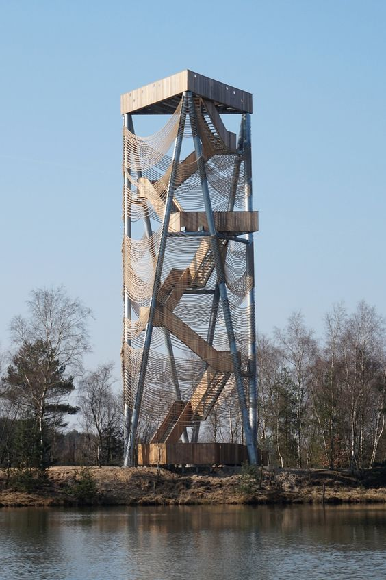 mamu architects lommel viewing tower designboom