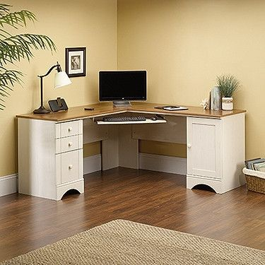 Modern Antique White L-shaped Corner Desk Corner office, The