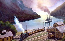 train à vapeur et bateau à vapeur- Cris Figueired♥