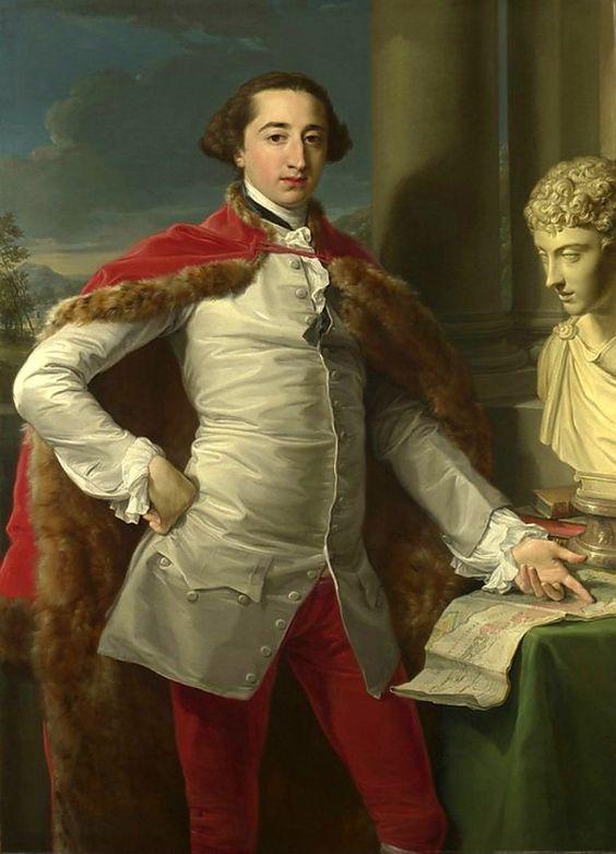 Portrait of Richard Milles by Pompeo Batoni (Italian 1708–1787):