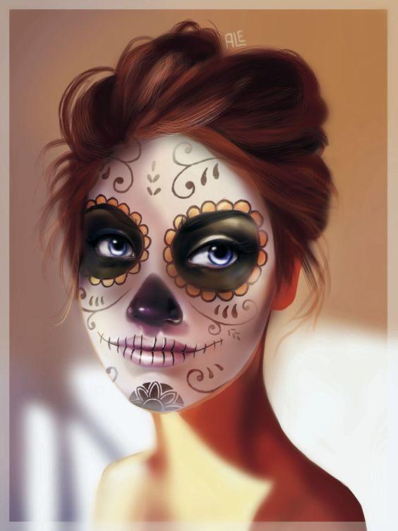 Dia de muertos catrina diademuertos art