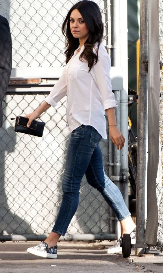 Mila Kunis White Shirts And Casual On Pinterest