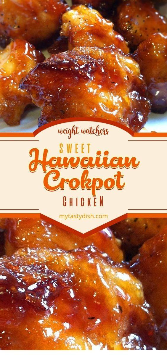 Sweet Hawaiian Crockpot Chicken Recipe Recipe Sweet Hawaiian Crockpot Chicken Recipe Crockpot Recipes Slow Cooker Crockpot Recipes Easy