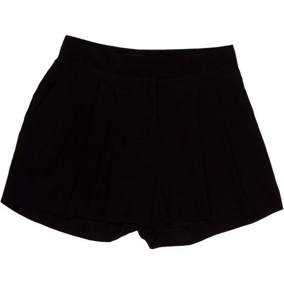 Pre-owned Fendi Shorts (£81) ❤ liked on Polyvore featuring shorts, black, fendi, high rise shorts, highwaist shorts, highwaisted shorts and pleated shorts
