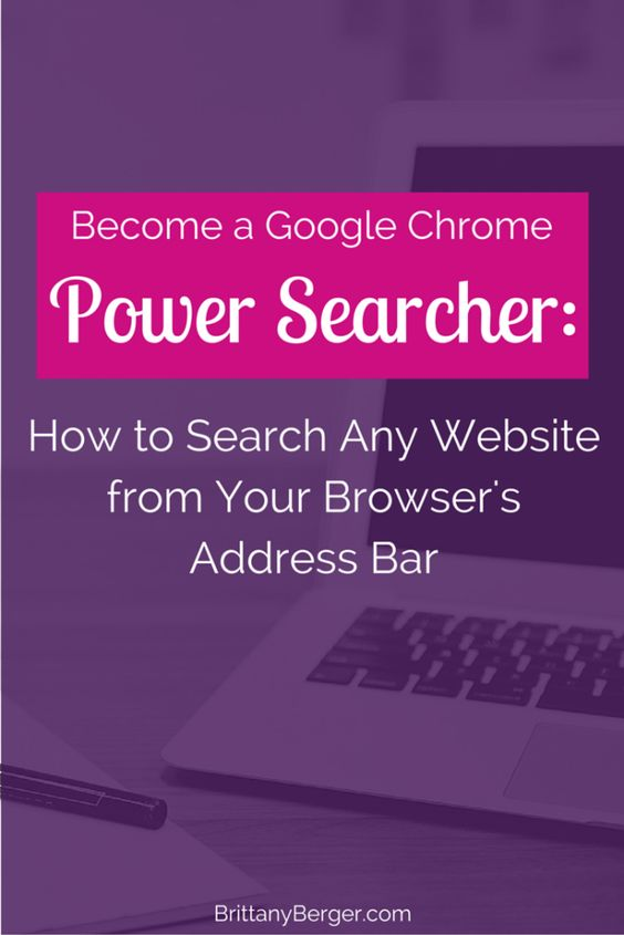 How to Search Any Website from Your Browser's Address Bar - automate your productivity and become a power searcher by turning your Google Chrome omnibox into a site search box for any website!