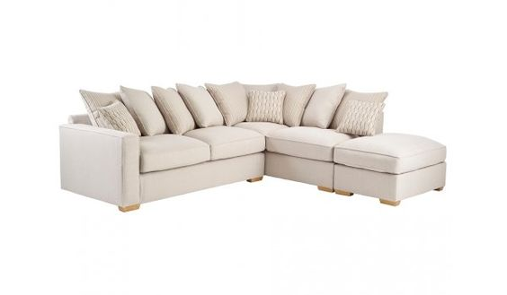Jasper Corner Sofa Left Facing in Costa Linen