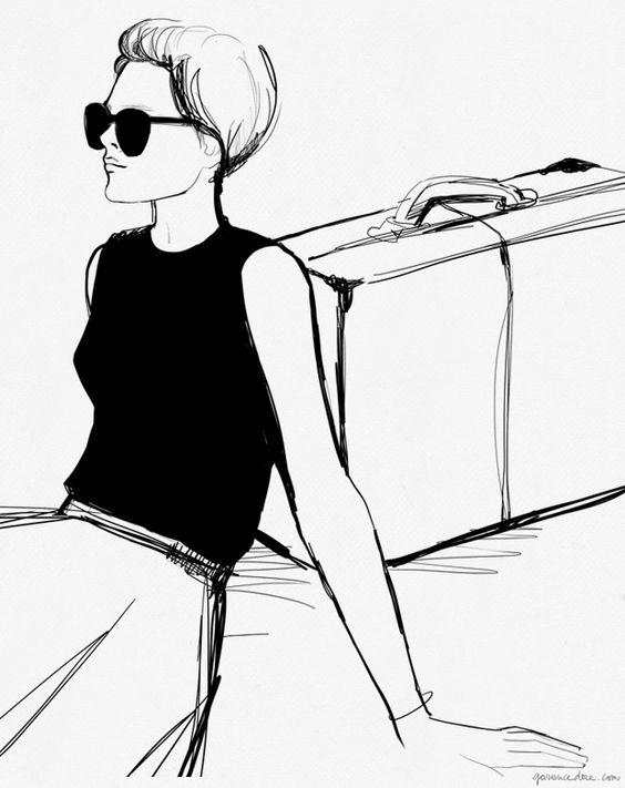 Chic fashion illustration // Garance Dore