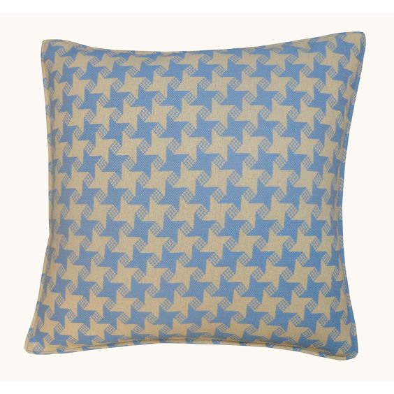 Jiti Outdoor Houndstooth 20-inch Square Pillow