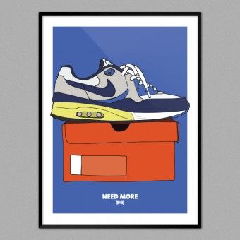 NEED MORE Air Max Light Blue (30x40cm)