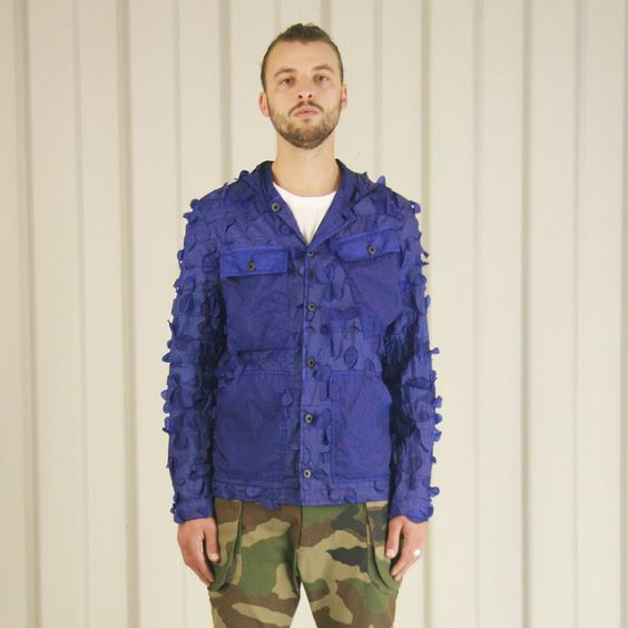 Griffin Bladecut Jacket - Cobalt £395 http://www.griffin-studio.com/welcome/product/bladecut-jacket/ #griffin #griffinstudio #menswear #sportswear #fashion #lovelife #lovesummer #loveland #podlife