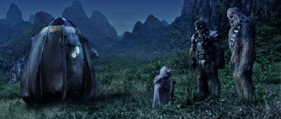 *YODA, WOOKIE & CHEWBACCA (Peter Mayhew) ~ Star Wars: Episode III - Revenge of the Sith (2005)