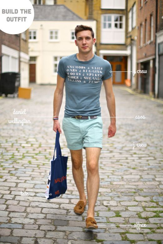 simple yet fun. Love that shorts for men are getting just a little ...