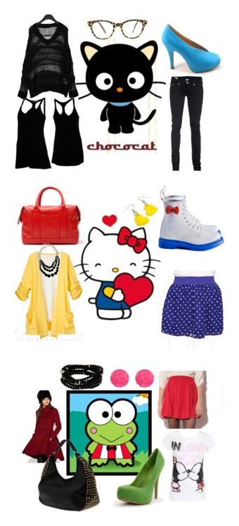 """""""Sanrio"""" by lalafeto on Polyvore featuring True Religion, Volcom, Cutler and Gross, women's clothing, women's fashion, women, female, woman, misses and juniors"""