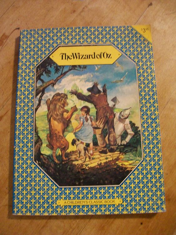 The Wizard of Oz - 1979 - by L. Frank Baum, Illustrated by Bridgitte Bryan - Vintage Children's Book, Classic Story by LucysLuckyDeals on Etsy: