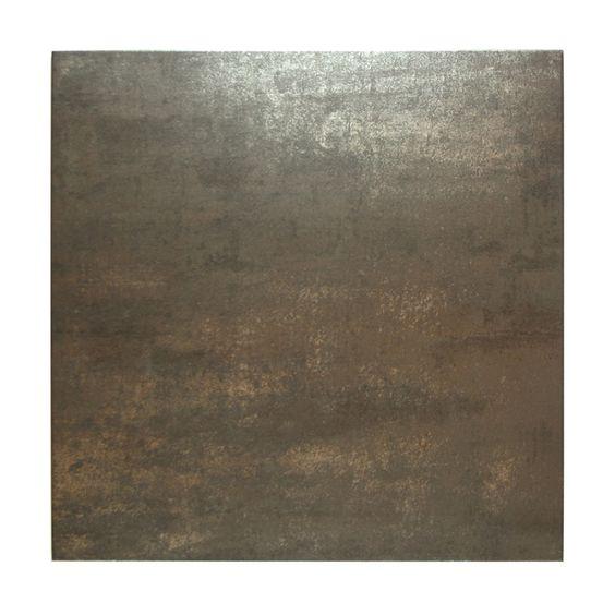 Tegelstrips Badkamer: Bruin / Zwart / Koper Genuanceerde Vloertegel 60 X 60
