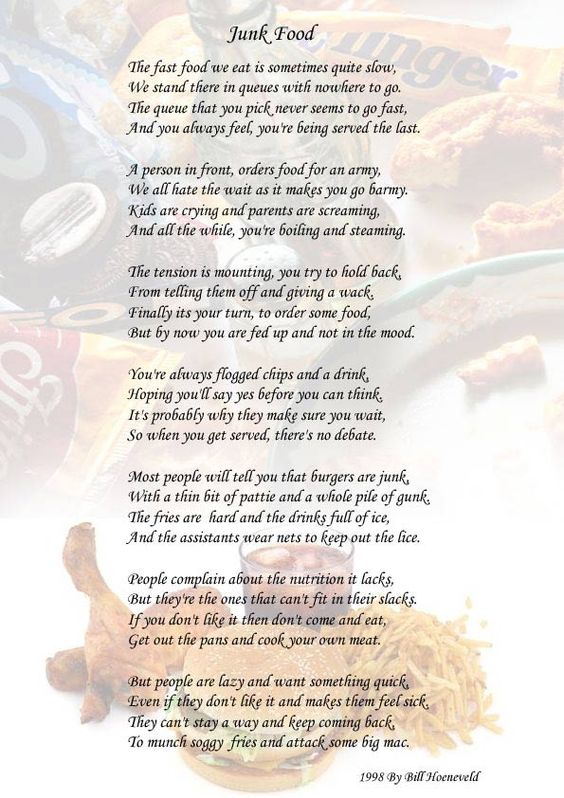 ode poems about food - photo #10