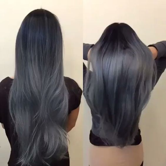 Smoky brunette hair by Artist Credit to Come charcoal gray ...
