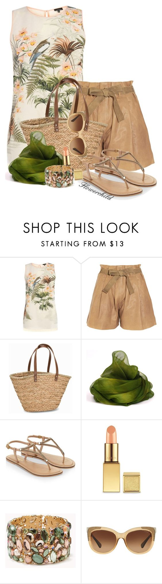 """""""Tropical Chic"""" by flowerchild805 on Polyvore featuring Warehouse, See by Chloé, NLY Accessories, Monsoon, Forever 21 and Coach"""