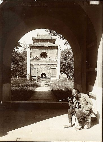 "China, Peking Beijing 1907 ""Entrance to the tomb of Yung Lo. "" Photograph by Herbert Ponting ...:"