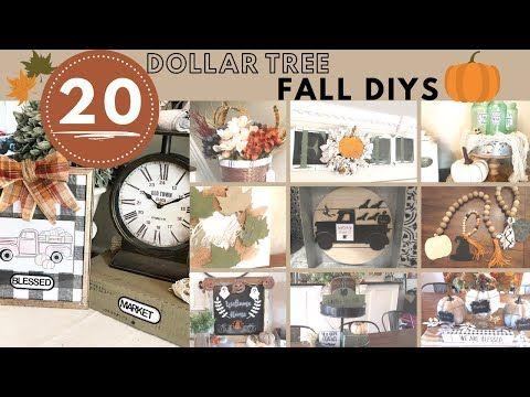 Diy Dollar Tree Fall Decor Best Of Farmhouse Dollar Tree Fall Decor 20 Fall Diys Youtube In 2020 Fall Decor Dollar Tree Dollar Tree Diy Dollar Tree Diy Crafts