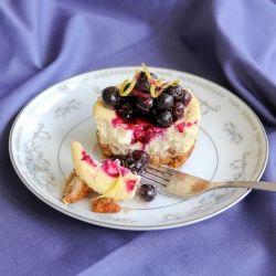 Mini Lemon & Ginger Blintz Cheesecakes
