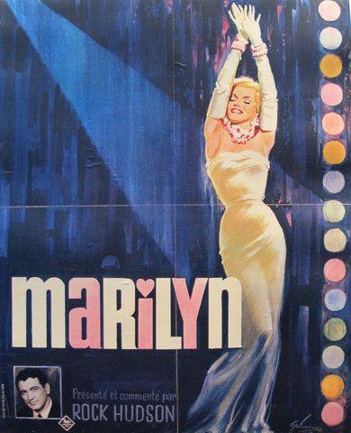 marilyn affiche 1963 | affichiste - 1963 French Marilyn Monroe Documentary Poster - Boris ...