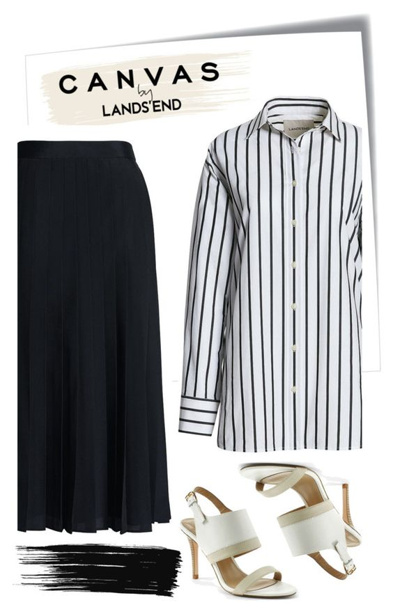 """""""Paint Your Look With Canvas by Lands' End: Contest Entry"""" by pamela-802 ❤ liked on Polyvore featuring Post-It, Canvas by Lands' End and Lands' End"""