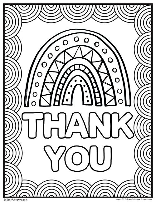 Thank You Rainbow Printables Rainbow Activities Easy Coloring Pages Cute Coloring Pages