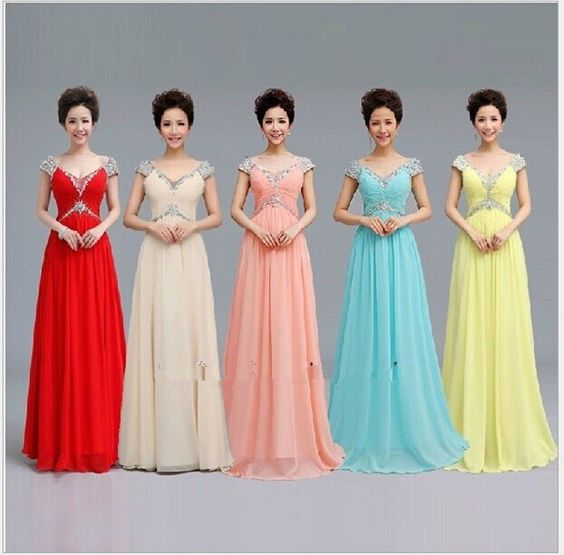 New  Long  evening gown Bridesmaid Wedding party prom formal dress #china