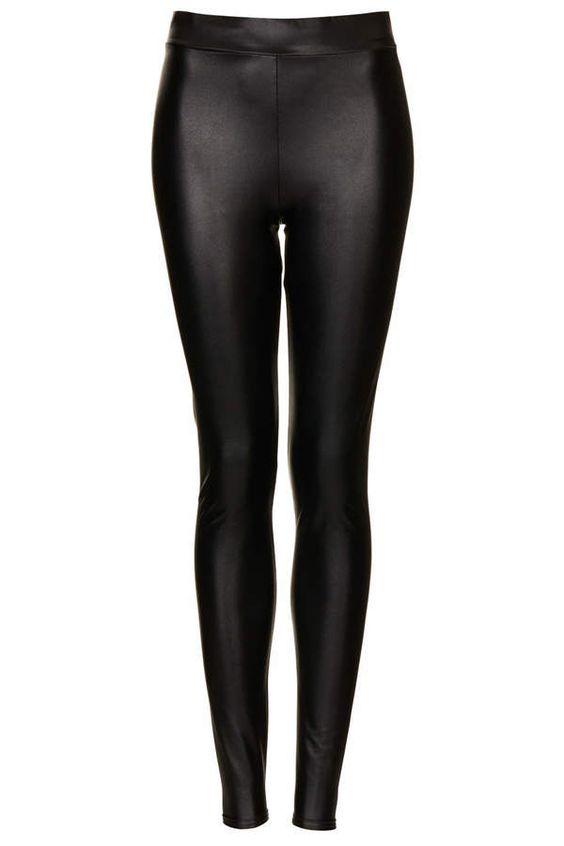 Textured Leather Leggings