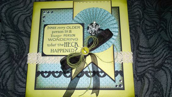 Birthday card using indigo blue sentiments created by Leanne roebuck