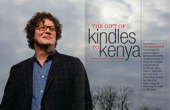 John McCormack and the gift of Kindles to Kenya #amazon