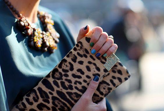 Blue & leopard print