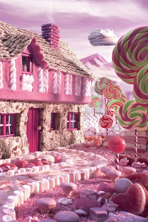 女子向け壁紙おかしの家