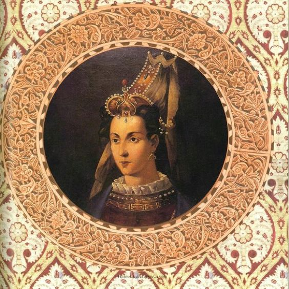To compare with the other portraits of Mirimah Sultan.  Likely not an accurate representation.