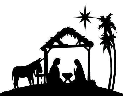 natividad  silueta and dise u00f1o de tarjetas on pinterest nativity scene clipart black white nativity scene clipart black white