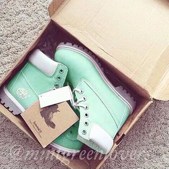 mint timberlands WANT,NEED,MUST HAVE