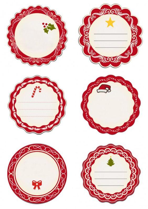 Darmowe etykiety na prezenty: czerwone - Szablony malarskie - Pokój dla dziecka…